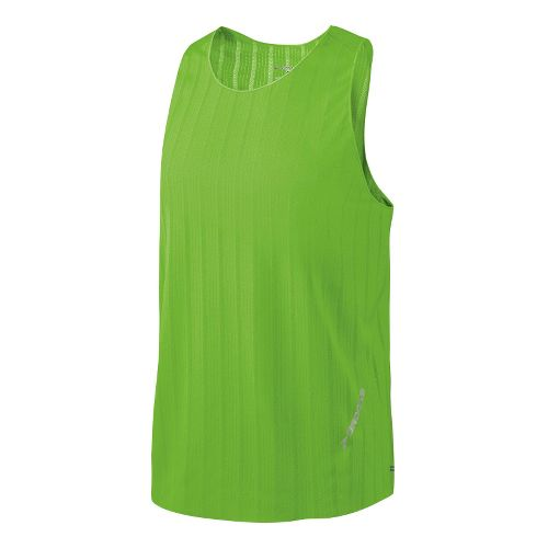 Mens Brooks Race Day Singlets Technical Tops - Brite Green M