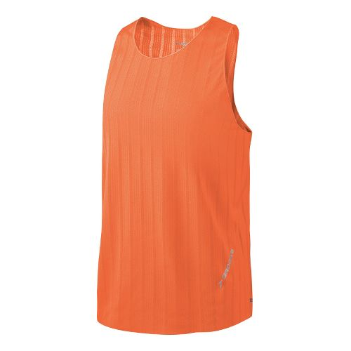 Mens Brooks Race Day Singlets Technical Tops - Brite Orange L
