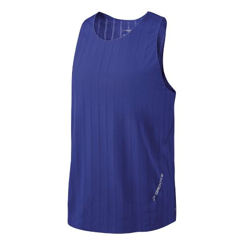 Mens Brooks Race Day Singlets Technical Tops - Ultra Marine S