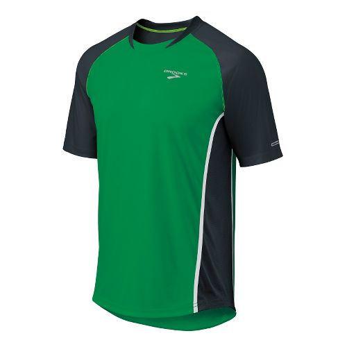Mens Brooks Pro Train SS Short Sleeve Technical Tops - Envy/Anthracite L