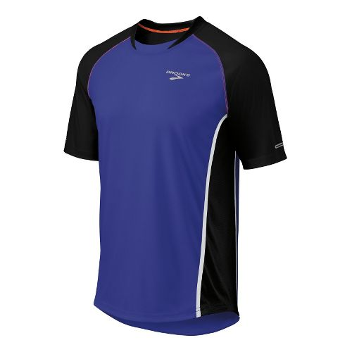 Mens Brooks Pro Train SS Short Sleeve Technical Tops - Ultra Marine/Black M