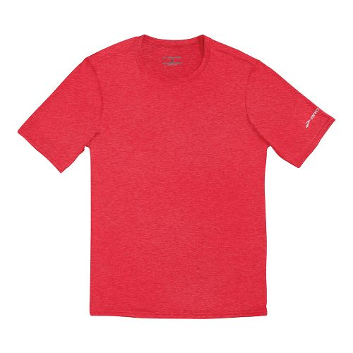 Mens Brooks EZ T III Short Sleeve Technical Tops - Americana L