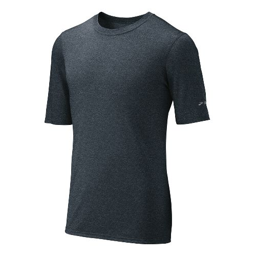 Mens Brooks EZ T III Short Sleeve Technical Tops - Anthracite M