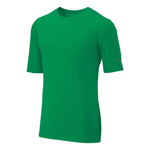 Mens Brooks EZ T III Short Sleeve Technical Tops - Fern XS
