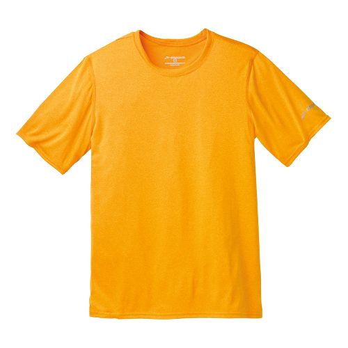 Mens Brooks EZ T III Short Sleeve Technical Tops - Heather Mango XL