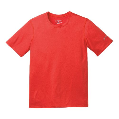 Mens Brooks EZ T III Short Sleeve Technical Tops - Heather Mars XS