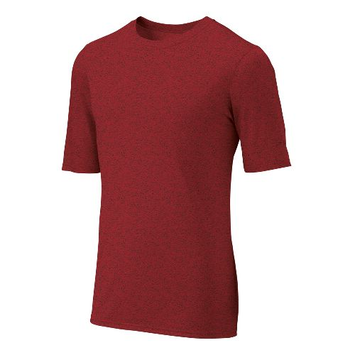 Mens Brooks EZ T III Short Sleeve Technical Tops - Lava L
