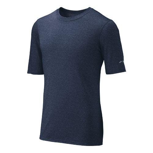 Mens Brooks EZ T III Short Sleeve Technical Tops - Midnight S