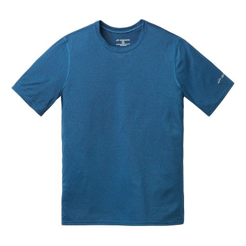 Mens Brooks EZ T III Short Sleeve Technical Tops - Poseidon L