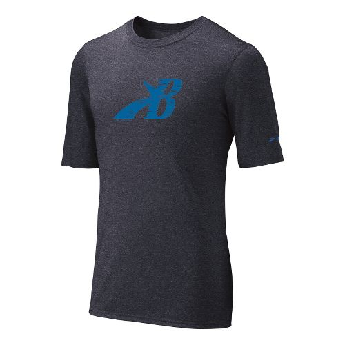 Mens Brooks EZ T III Flying B Short Sleeve Technical Tops - Anthracite/Galaxy M