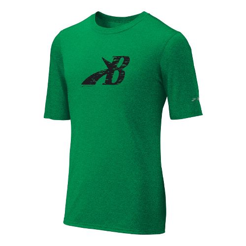 Mens Brooks EZ T III Flying B Short Sleeve Technical Tops - Fern XL