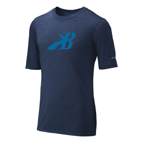 Mens Brooks EZ T III Flying B Short Sleeve Technical Tops - Midnight XL