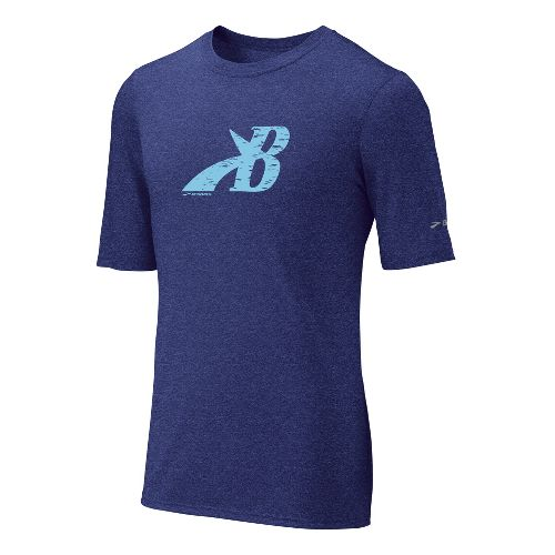 Mens Brooks EZ T III Flying B Short Sleeve Technical Tops - Ultra Marine XXL ...