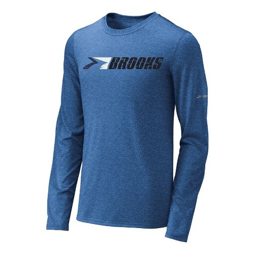 Mens Brooks EZ T III Retro Brooks Long Sleeve No Zip Technical Tops - Galaxy ...