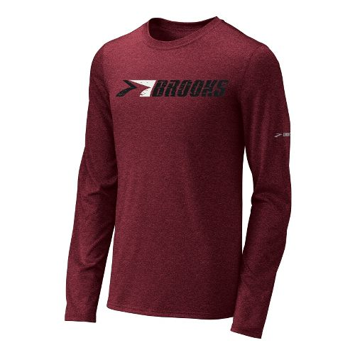 Mens Brooks EZ T III Retro Brooks Long Sleeve No Zip Technical Tops - Matador ...
