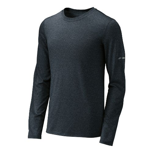 Mens Brooks EZ T III Long Sleeve No Zip Technical Tops - Anthracite L
