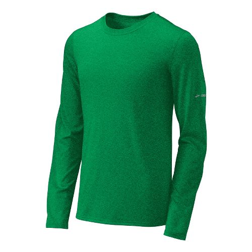 Mens Brooks EZ T III Long Sleeve No Zip Technical Tops - Fern XS