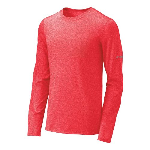 Mens Brooks EZ T III Long Sleeve No Zip Technical Tops - Lava XS