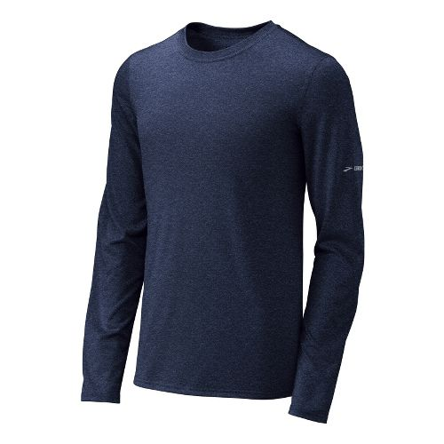 Mens Brooks EZ T III Long Sleeve No Zip Technical Tops - Midnight L