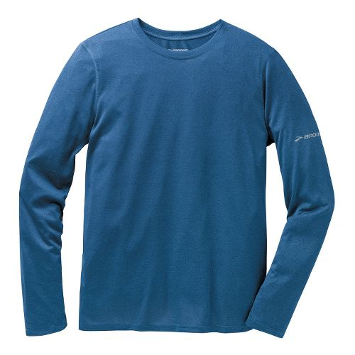 Mens Brooks EZ T III Long Sleeve No Zip Technical Tops - Poseidon S