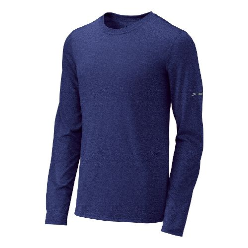 Mens Brooks EZ T III Long Sleeve No Zip Technical Tops - Ultra Marine M ...