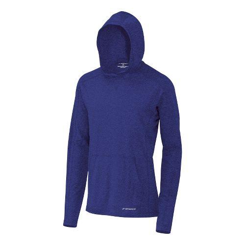 Mens Brooks Essential Hoodie Long Sleeve No Zip Technical Tops - Ultra Marine L