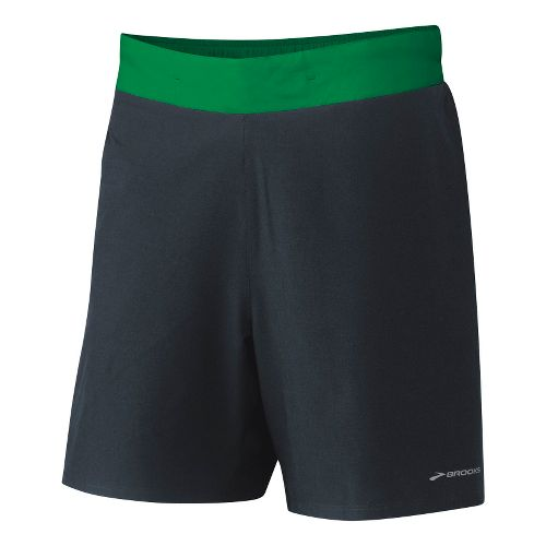 Mens Brooks Board Racer Short Lined Shorts - Anthracite/Envy M