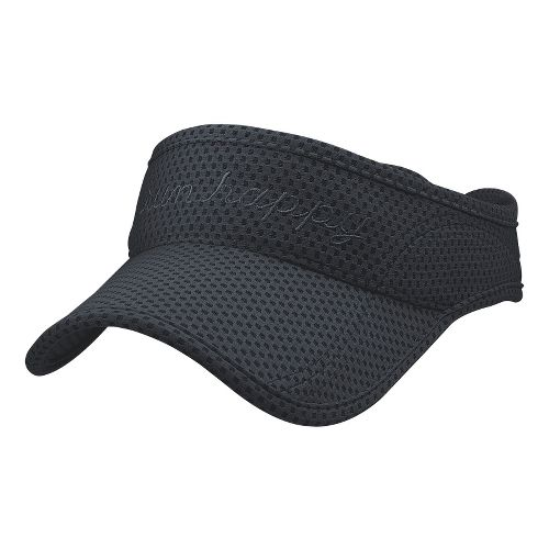 Brooks Run Happy Visor Headwear - Anthracite
