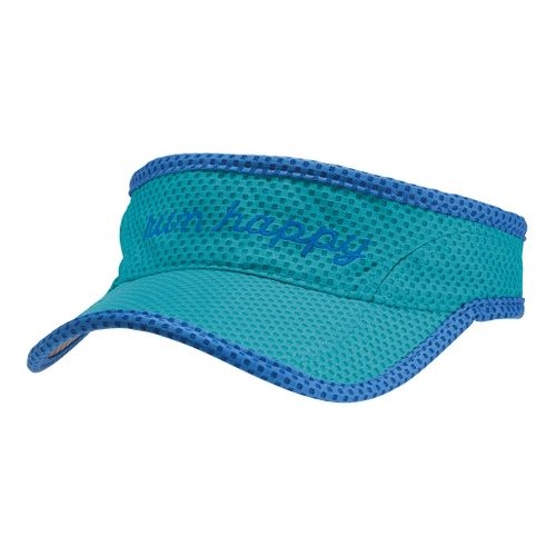 Brooks Run Happy Visor Headwear - Heather Caribbean/Electric