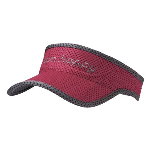 Brooks Run Happy Visor Headwear - Jam/Mako