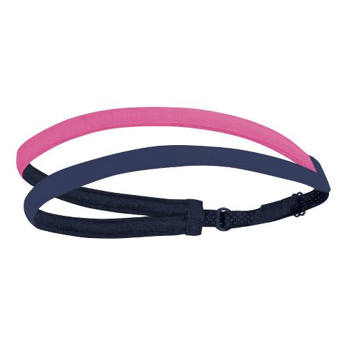 Womens Brooks Double Headband Headwear - Midnight/Brite Pink