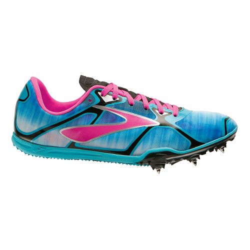 Womens Brooks PR LD 4:48 Racing Shoe - Cyan/Purple 9.5