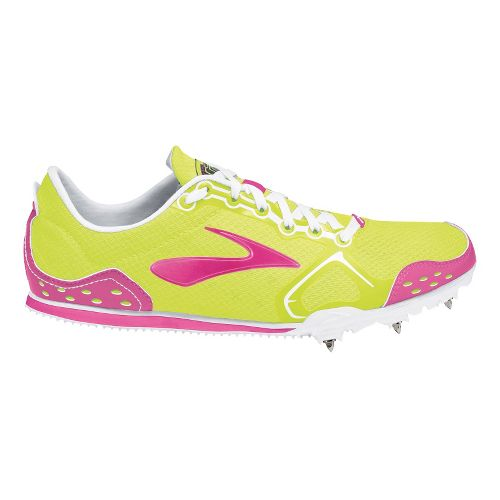 Womens Brooks PR LD 4:48 Racing Shoe - PinkGlo/Nightlife 10.5