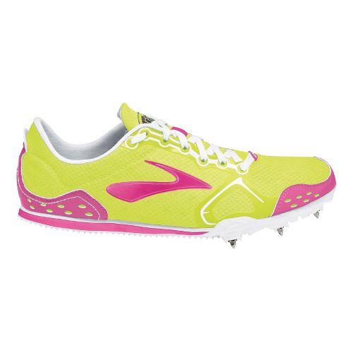 Womens Brooks PR LD 4:48 Racing Shoe - PinkGlo/Nightlife 12