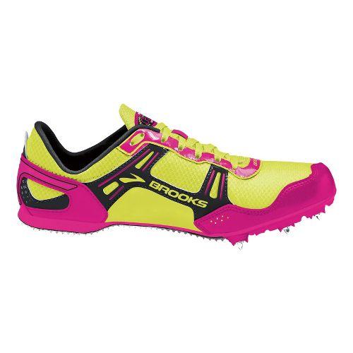 Womens Brooks PR MD 54.26 Racing Shoe - PinkGlo/Nightlife 10.5