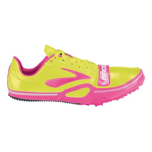 Womens Brooks PR Sprint 11.38 Racing Shoe - PinkGlo/Nightlife 11