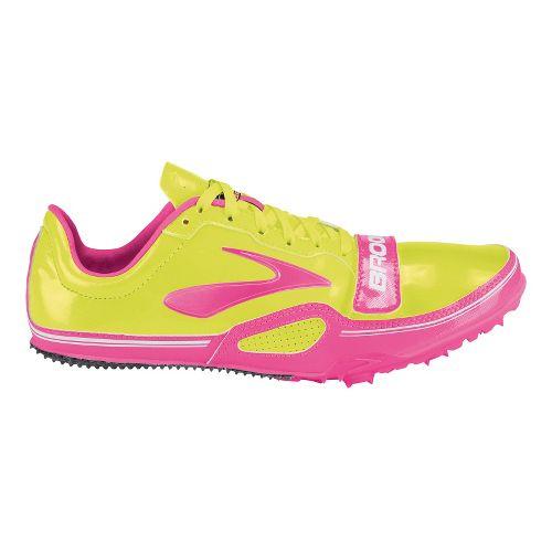 Womens Brooks PR Sprint 11.38 Racing Shoe - PinkGlo/Nightlife 9.5