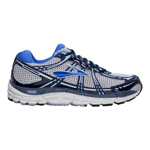 Mens Brooks Addiction 11 Running Shoe - Silver/Tradewinds 12