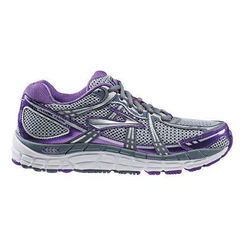 Womens Brooks Addiction 11 Running Shoe - Electric Purple/Flint Stone 7.5