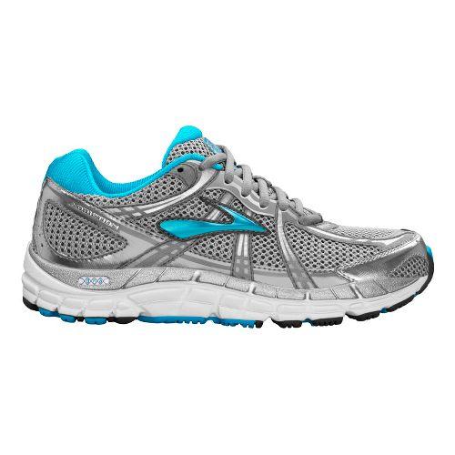 Womens Brooks Addiction 11 Running Shoe - Silver/Primer Grey 6.5