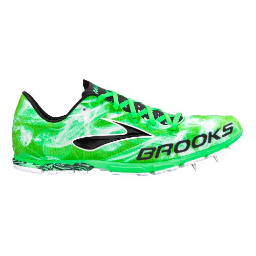 Mens Brooks Mach 15 Spike Track and Field Shoe - Andean Toucan/Black 8