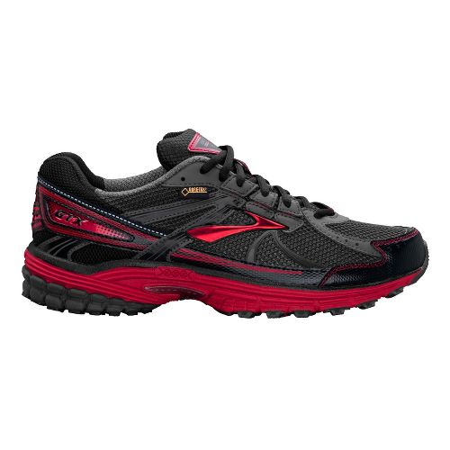 Mens Brooks Adrenaline ASR 10 GTX Running Shoe - Black/Anthracite 10.5