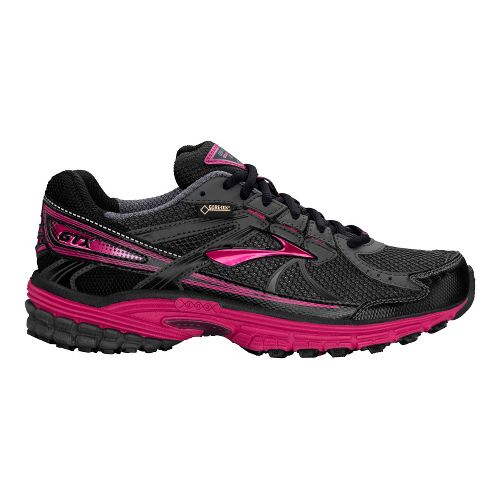 Womens Brooks Adrenaline ASR 10 GTX Running Shoe - Anthracite/Black 10.5