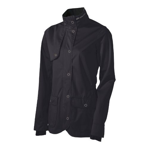 Womens Brooks Silver Bullet II Running Jackets - Black M