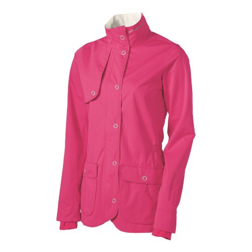 Womens Brooks Silver Bullet II Running Jackets - Pomegranate M