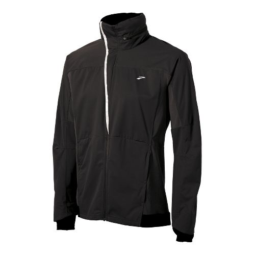 Mens Brooks Silver Bullet II Running Jackets - Black M