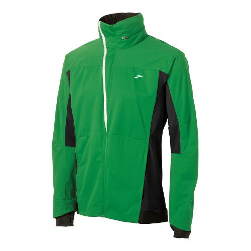 Mens Brooks Silver Bullet II Running Jackets - Fern/Black L