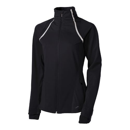Womens Brooks Utopia Softshell II Running Jackets - Black L