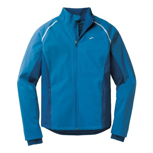 Mens Brooks Utopia Softshell II Running Jackets - Baltic/Poseidon L