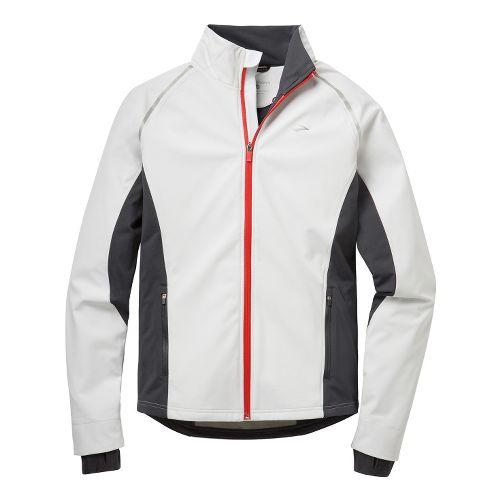 Mens Brooks Utopia Softshell II Running Jackets - White/Anthracite S